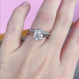 Jewelry - Contour Wedding Band (Diamond + White Gold)